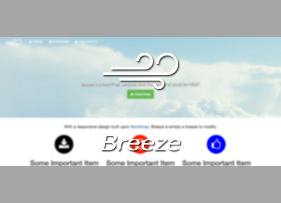 Breeze HTML Template Splash
